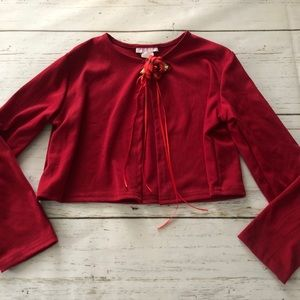 Boutique Kids Dream Red Cardigan